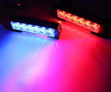 CIRON Newest 12 LED Car Roof Flashing Strobe Emergency Light 2X6 LED Truck Police Fireman Warning Lights Lamp Red&Blue