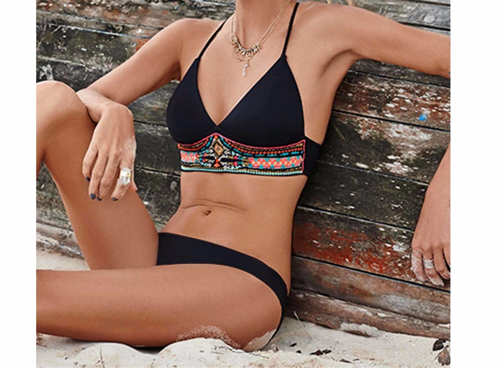 S-XL Swimsuit Womens Bikinis Set 2017 Sexy Beach Black Swimwear Scrunch Butt Bathing Suit Strappy Brazilian Push Up Bikini E638<br><br>Aliexpress