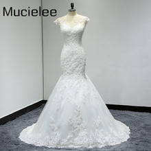 Illusion Neck Lace Mermaid Wedding Dresses Lace Back Sexy Wedding Dresses 2017 Bride Gown Robe De Mariee