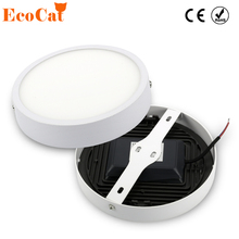 ECO Cat LED Panel Light 5W 8W 16W 22W 30W 220V 110V Round Panel LED Aluminum Ultra-thin Surface Mounted Downlight ceiling lamp(China)