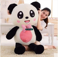Dorimytrader New Large 120cm Lovely Cartoon Panda Plush Toy 47'' Giant Animal Pandas Stuffed Pillow Doll Nice Present DY61296