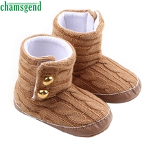 CHAMSGEND Best Seller  baby shoes cute lovely autumn winter kids Baby Snow Boots Soft Sole Prewalker Crib Shoes fringe S35