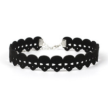 NK173 Hot Fashion Punk Choker Necklace Black Hollow Skull Tattoo Necklaces for Women Girls Gift Torques Jewellery Colar Bijoux