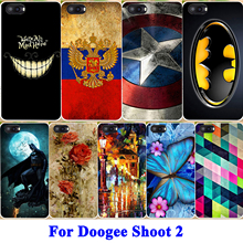 Durable Shell Phone Case For Doogee Shoot 2 Cases Soft TPU Housing Shoot2 Covers Panda Tiger Captain American Skin Hood Bags