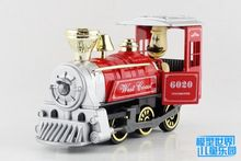 1 PC 15cm Tia alloy car models more classical steam locomotive children's toys Acousto-optic version of noise gifts