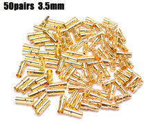 50pairs 3.5mm Gold Bullet banana Connector Align Trex 450 250(China)