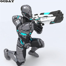 Cool Toy Gun Manual Shooting Cyber Hunter Soft EVA Bullets Far Shooting Range Hand Gun ABS Body Outdoor Game Fight Toys For Kids(China)
