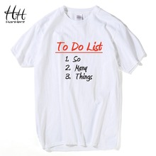 HanHent To Do List So Many Things Men Funny T-shirt With a Print Cotton Tops Tee Shirt Novelty The Big Bang Theory Men's T-shirt(China)