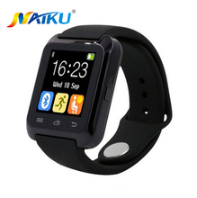 Smartwatch bluetooth smart watch u80 para iphone ios android telefone inteligente desgaste relógio wearable dispositivo smartwach pk u8 gt08 dz09