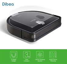 Dibea D960 Robot Vacuum Cleaner Smart With Wet Mopping Robot Aspirador With Edge Cleaning Technology For Pet Hair Thin Carpets(China)