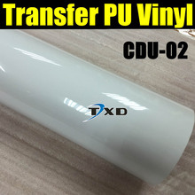 50X100CM/LOT High quality transfer PU VINYL FILM FOR cutter plotter use for heat transfer machine CDU-02 WHITE BY FREE SHIPPING