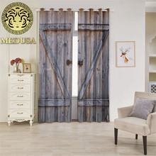 Medusa door imitated Grommet Top Thermal Insulated Blackout window Curtains 2 Panels