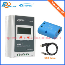 20A MPPT free shipping controllers Tracer2210A for solar charging mini system use with USB cable and bluetooth connect function(China)