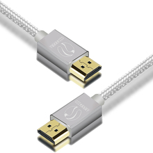 HDMI Cable - HDMI 2.0 (4K) Ready - 28AWG Braided Cord - High Speed 18Gbps - Gold Plated Connectors - Ethernet, Audio Return