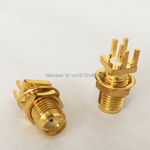 1pc SMA Connector SMA Female Jack nut  RF Coax Connector end launch PCB Mount Cable  Straight  Goldplated  NEW  wholesale