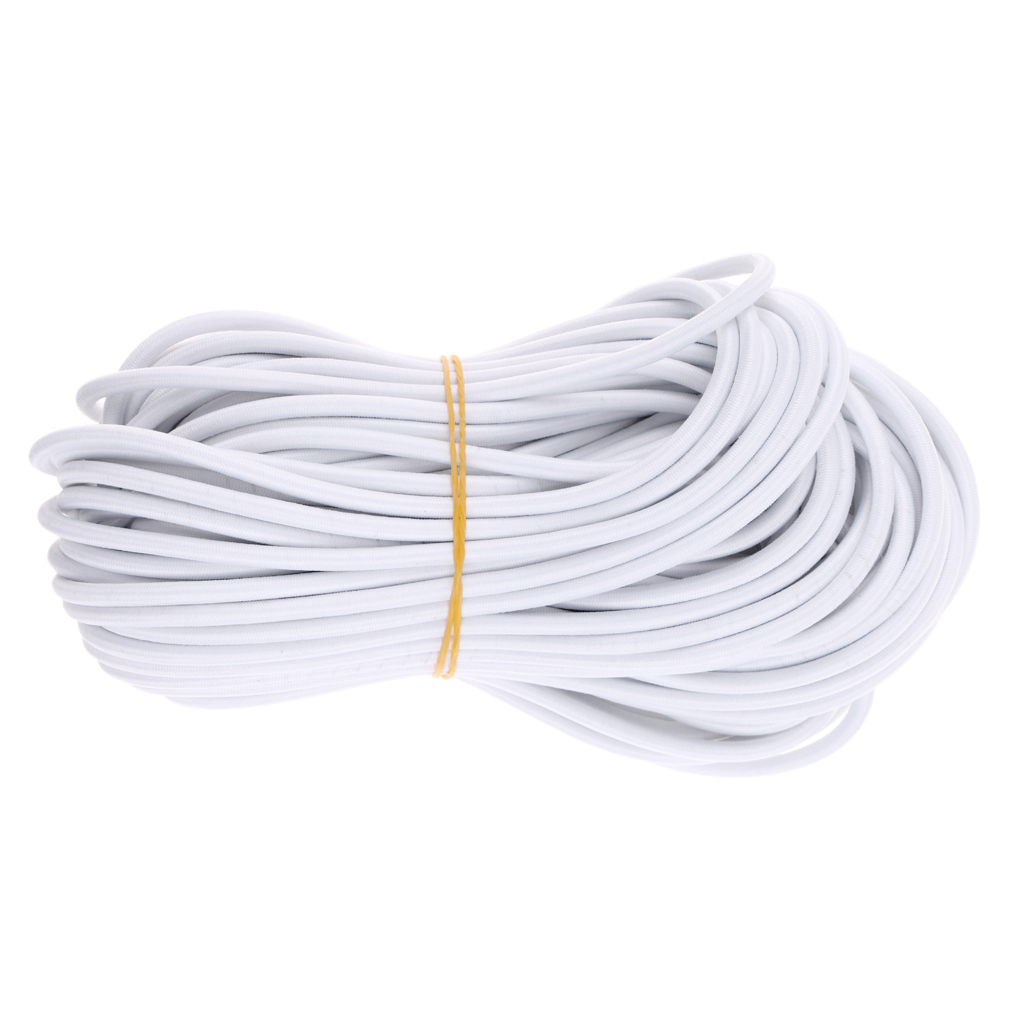 8mm 1-10m Polyester Coated Rubber Latex Stretch Bungee Rope Shock Cord Tie Down