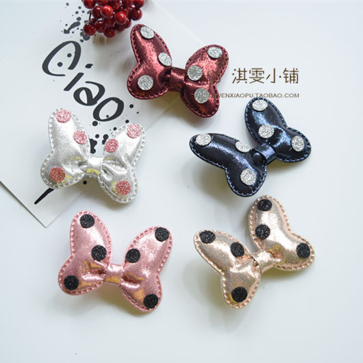 South Korea Dog hair ornaments Bow Wave edge clamp clip baby cloth tie pet accessories dog hairpin 20pcs(China)