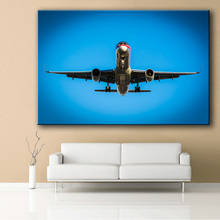 Large size Printing Oil Painting Wall painting American Airlines Boeing B757 Wall Art Picture For Living Room painting no frame(China)