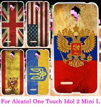 Soft TPU National Flag Phone Case For Alcatel One Touch Idol 2 Mini L 6014 6014D 6014X Skin Fundas Silicon Shell Hood Cover
