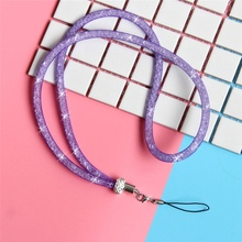 Fashion Mobile Phone Strap Long Neck Lanyard Luxurious Universal Flash Crystal Diamond Candy Color Cellphone Sparkling Hanging