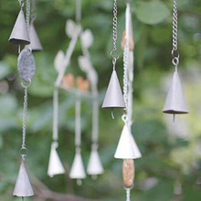 European Style Yard Garden Outdoor Living Chapel Church Bells Vintage Resin Bird Wind Chime Wall Hanging Decor(China)