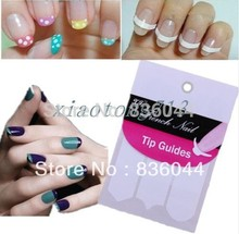 10Pcs Lot Packs 3 Style French Tips Guides Sticker Form Fring Manicure Gel UV Set Nail Art DIY Stencil Pro Hot