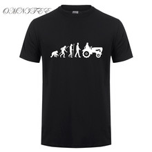 Evolution Of Tractor Men T Shirts Summer Style Short Sleeve Cotton Farmer T-shirt O Neck Men Clothing Tees Top OT-801