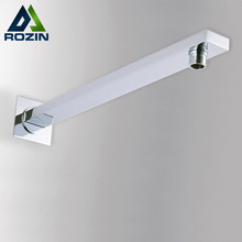 Free Shipping Wholesale And Retail Conseal Install Shower Fixed Connecting Pipe Wall Mounted Solid Brass Shower Arm