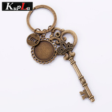 Buy Vintage Keychains 20mm Round Cabochon Pendant Setting DIY Retro Crown Key Keychains Handmade Fashion Key Chains 3pcs/lot C5813 for $4.49 in AliExpress store