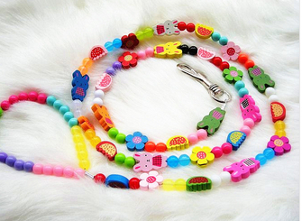 2015 New Free Shipping Funny Cute PET Cat Puppy Leash Dog Beads Leads Pet Products Accessories(China (Mainland))