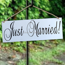 New Arrival Wooden Wedding Signs Just Married Photo Props Wedding Decoration Wood Hanging Directional Signs Arrow Supplies