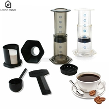 CABINA HOME Home Use Portable Coffee Pot AeroPress Espresso Machine Reusable Stainless Steel Coffee Filter And 350 Filter Paper