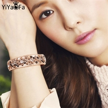 YiYaoFa New Creative PU leather Women Light Coffee  Rivet Buttons Bracelet Hand Accessories Jewelry S336