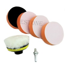 "6pcs 75mm 3"" High Gross Polishing Buffing Pad Kit for Car Polisher Buffer Hot"