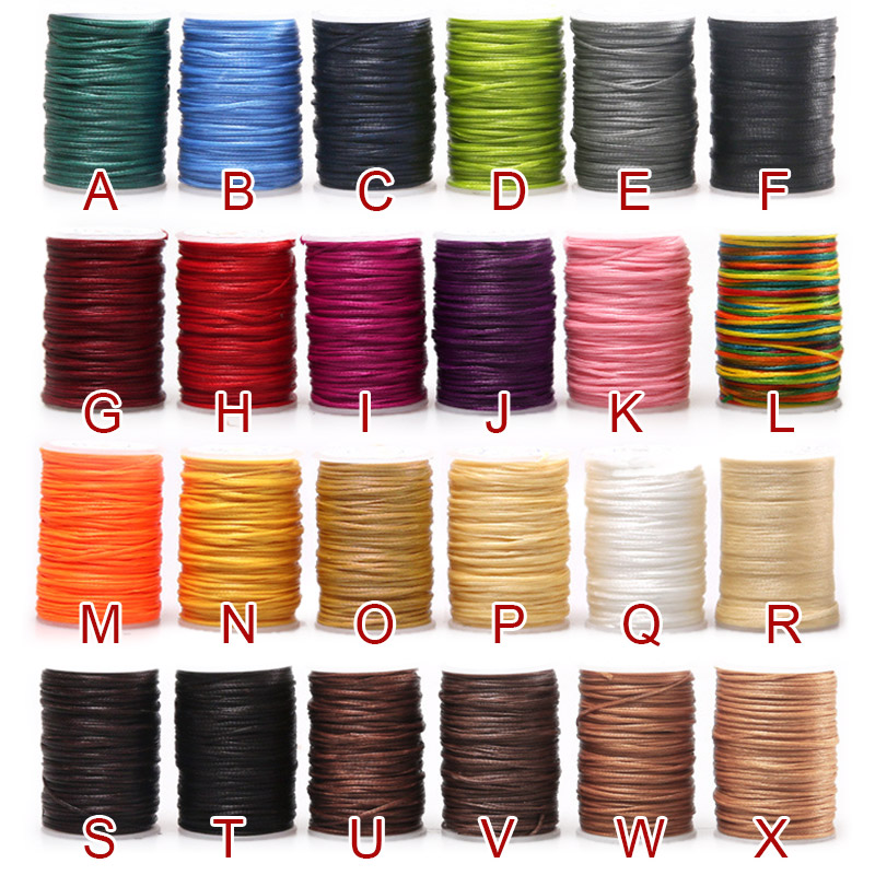 Durable 50 Meter 0.45mm Leather Waxed Thread Cord for DIY Handicraft Tool Hand P