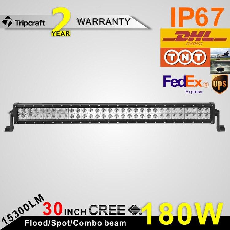 30inch 180W LED  Light Bar for Boat SUV Tractor ATV 12v 24v Offroad Fog Light Extermal Light Save on 180W<br><br>Aliexpress
