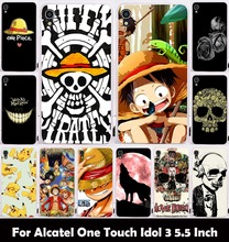 Hard Plastic Soft TPU Silicon Phone Case For alcatel One Touch Idol 3 5.5'' OT-6045 OT6045 6045Y Cover Skull Head Naruto Housing