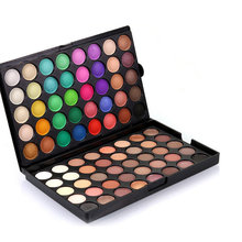 2017 80 Colors Shimmer Matte Eye Shadow Makeup Palette Fashion Natural Make Up Cosmetics Suit Light Eyeshadow(China)