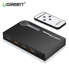 Ugreen HDMI Splitter 3 Port HDMI Switch Switcher HDMI Port 1080P 3 Input 1 Output 4K Adapter for XBOX 360 PS3 PS4 Android HDTV(China)