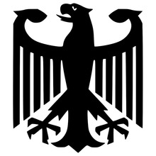 14*16.1CM Classic German Eagle Flag Car Body Decal Accessories Car Styling Stickers Black/Silver C9-1163
