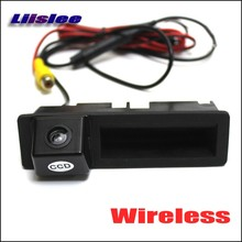 Wireless Car Rear View Camera For Audi Q7 2011 2012 2013 / HD Back Up Reverse Camera / Night Vision / Plug & Play Trunk Handle