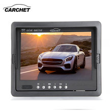 "CARCHET 7"" TFT Car Monitor Rearview Monitor LED Night Version 120 Wide Angle Camera Reversing Parking System Car-styling DVDVCD"