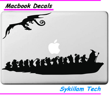 Lord of Ring Dragon Potter Cartoon Sticker for Apple Macbook Skin Air 11 13 Pro 13 15 Retina Laptop Auto Wall Vinyl Logo Decal
