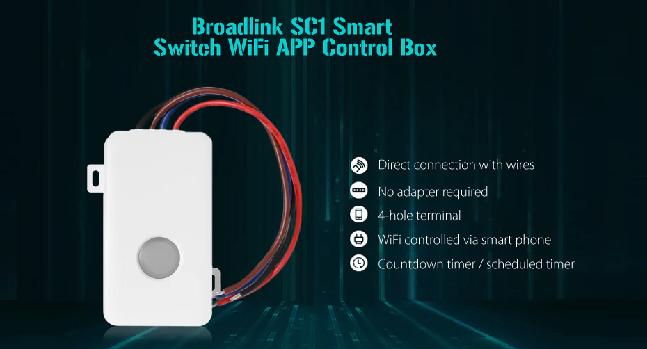 Original Broadlink SC1 Intelligent DIY Switch Control Box WiFi Remote Timing Controlled Max Load 2500W For Smart Home Automation