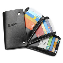 2018 New Men Women PU Leather Plastic Card Holder Bank ID Multi Card Case Rotating Business Card Men Wallets Purse(China)