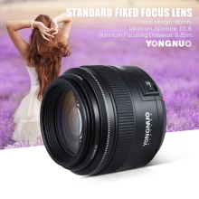 Buy YONGNUO YN85mm F1.8 Lens Standard Medium Telephoto Prime fixed focus lens Canon EF Camera 7D 5D Mark III 80D 70D 760D 650D for $163.99 in AliExpress store