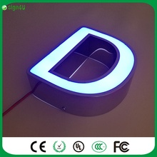 3D Lighting  LED Channel Letter Sign / Bending Machine Making Acrylic face Lighting Letters