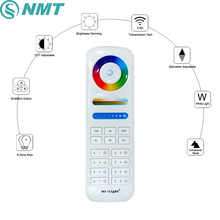 Mi-Light Wireless LED Remote Controller 8Zone 2.4GHZ Touch Remote Control For RGB+CCT LED Bulbs LED Strip Downlight Flood Lights(China)