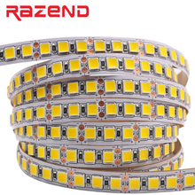 RAZEND SMD 5054 LED Strip 5M 120leds/m Flexible Tape Light 5050 DC12V  more bright than 2835 5630 Cold white/ice blue/Pink/Red