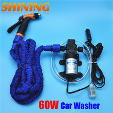 High Pressure 12V Car Wash Device Washing Machine Cleaning Water Pump Washing Equipment Portable Car Washer With Expandable Hose